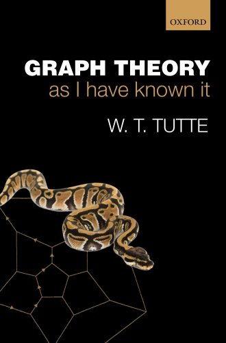 9780199660551: Graph Theory As I Have Known It (Oxford Lecture Series in Mathematics and Its Applications)