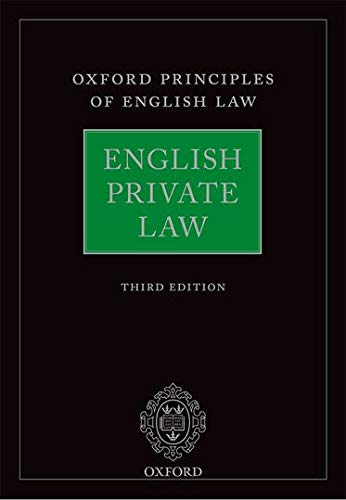 9780199661770: English Private Law (Oxford Principles of English Law)
