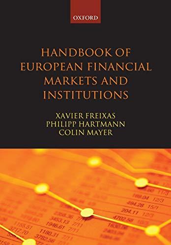 9780199662692: Handbook of European Financial Markets and Institutions (Oxford Handbooks)