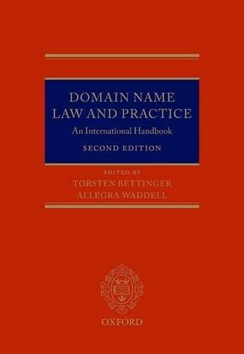 Domain Name Law and Practice: Torsten Bettinger