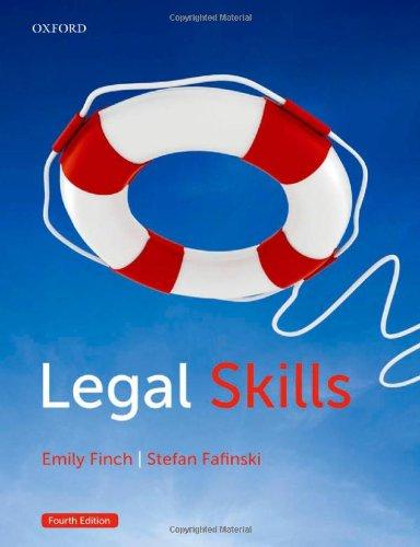 9780199664498: Legal Skills