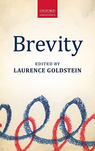 9780199664986 - Goldstein, Laurence: Brevity (Oxford Linguistics) - Книга