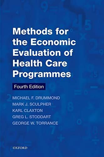 9780199665877: Methods for the Economic Evaluation of Health Care Programmes