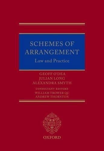 Schemes of Arrangement: Law and Practice: Geoff O'dea