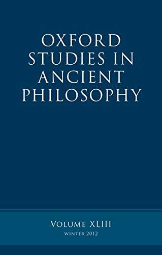 9780199666164: Oxford Studies in Ancient Philosophy, Volume 43
