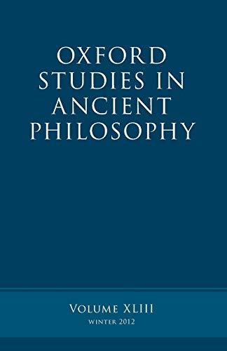 9780199666171: Oxford Studies in Ancient Philosophy: Volume 43