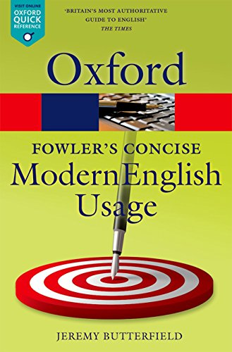 9780199666317: Fowler's Concise Dictionary of Modern English Usage 3/e (Oxford Quick Reference)
