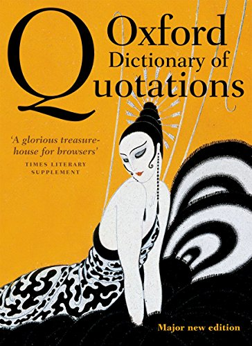 9780199668700: Oxford Dictionary of Quotations 8e