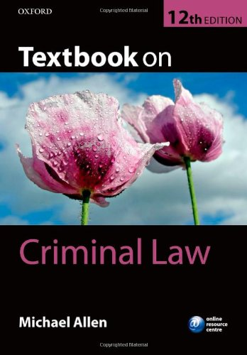 9780199669295: Textbook on Criminal Law
