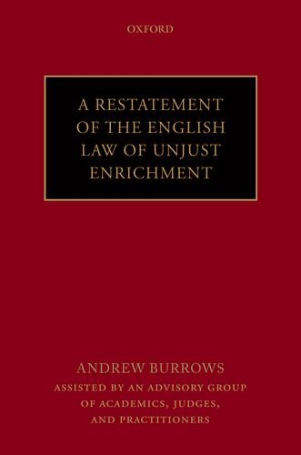 9780199669899: A Restatement of the English Law of Unjust Enrichment