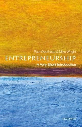 9780199670543: Entrepreneurship: A Very Short Introduction