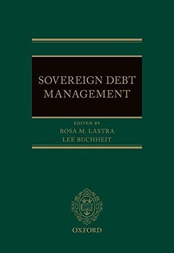 9780199671106: Sovereign Debt Management