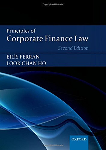 9780199671342: Principles of Corporate Finance Law