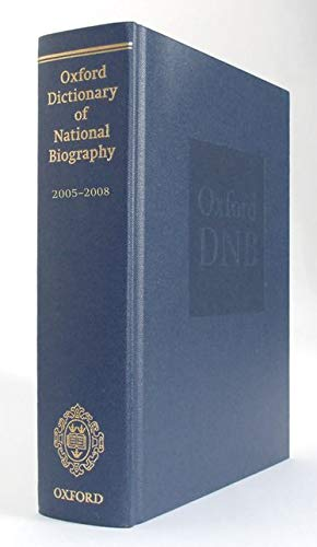 9780199671540: Oxford Dictionary of National Biography Supplement: 2005-2008 (ODNB Print Series)