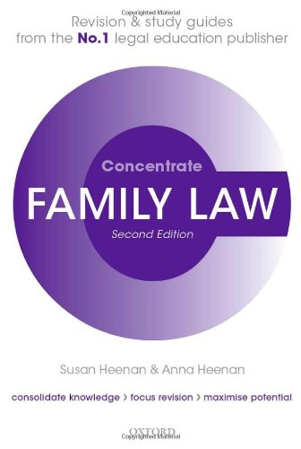 9780199671953: Family Law Concentrate: Law Revision and Study Guide