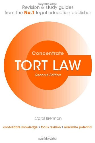9780199671984: Tort Law Concentrate: Law Revision and Study Guide