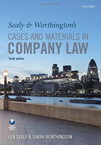 9780199676446: Sealy and Worthington's Cases and Materials in Company Law