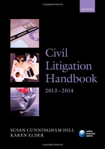 9780199676477: Civil Litigation Handbook 2013-2014 (Legal Practice Course Guide)