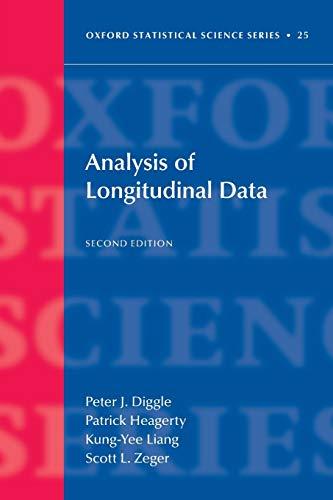 9780199676750: Analysis of Longitudinal Data (Oxford Statistical Science Series)