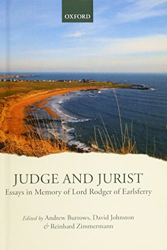 9780199677344: Judge and Jurist: Essays in Memory of Lord Rodger of Earlsferry