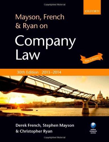 9780199677627: Mayson, French & Ryan on Company Law