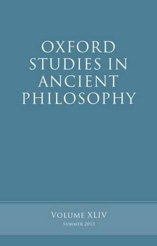 Oxford Studies in Ancient Philosophy, Volume 44.: INWOOD, B.,