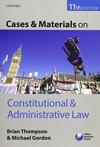 9780199678211: Cases & Materials on Constitutional & Administrative Law