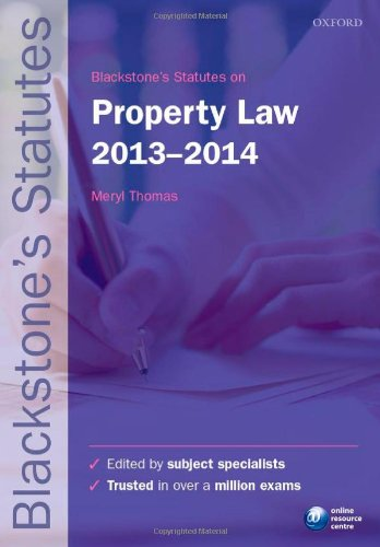 9780199678532: Blackstone's Statutes on Property Law 2013-2014 (Blackstone's Statute Series)