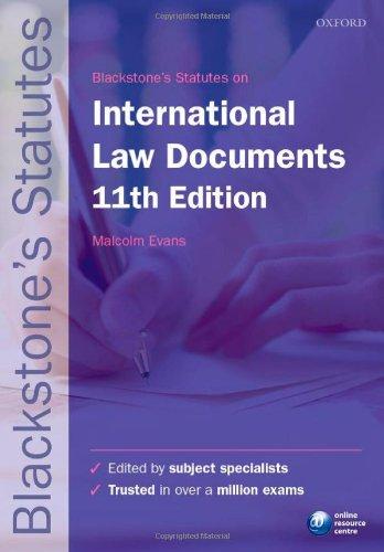 9780199678617: Blackstone's International Law Documents (Blackstone's Statutes)