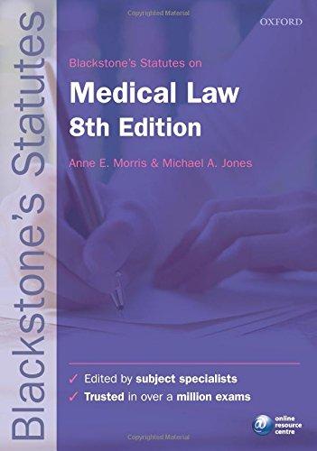 9780199678624: Blackstone's Statutes on Medical Law (Blackstone's Statute Series)