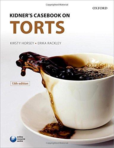 9780199678822: Kidner's Casebook on Torts