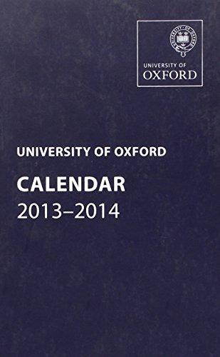 9780199678969: University of Oxford Calendar 2013-2014 (Oxford University Calendar Series)