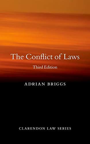 9780199679287: The Conflict of Laws