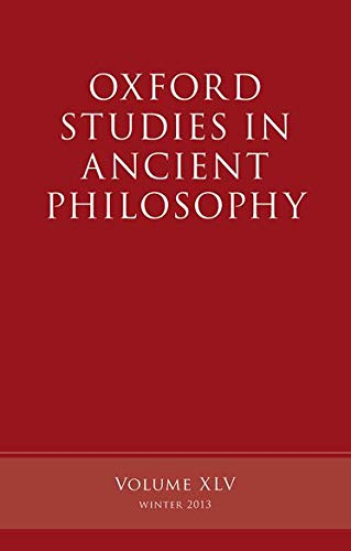 Oxford Studies in Ancient Philosophy, Volume 45.: INWOOD, B.,