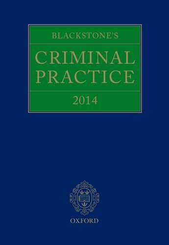 9780199681389: Blackstone's Criminal Practice 2014