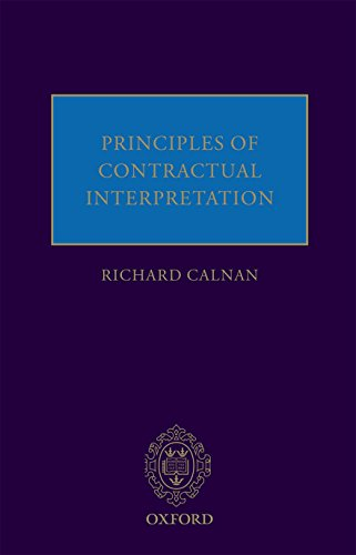 9780199681464: Principles of Contractual Interpretation