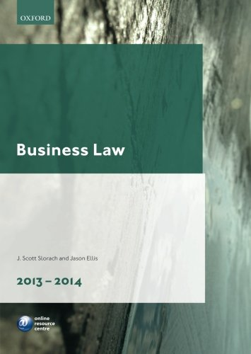 9780199681471: Business Law 2013-2014 (Legal Practice Course Guide)