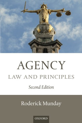 9780199681617: Agency: Law and Principles