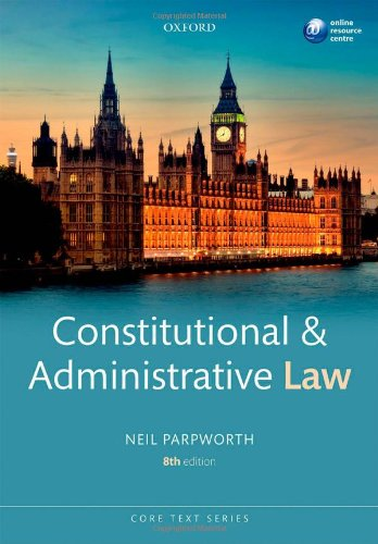9780199684144: Constitutional & Administrative Law (Core Text)