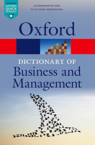 9780199684984: A Dictionary of Business and Management (Oxford Quick Reference)