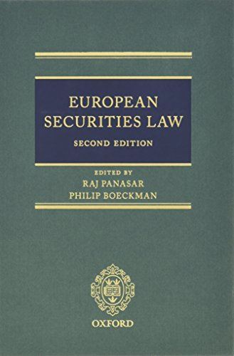 9780199685608: European Securities Law
