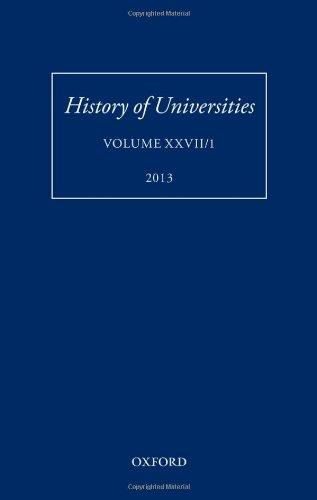 9780199685844: History of Universities: Volume XXVII/1