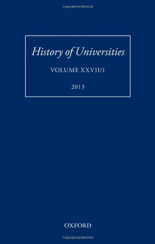 9780199685844: History of Universities: Volume XXVII/1 (History of Universities Series)