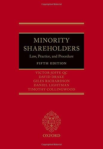 9780199687978: Minority Shareholders: Law, Practice, and Procedure