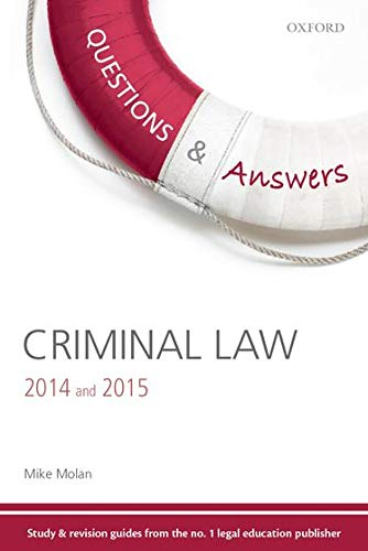 9780199689217: Q & A Revision Guide Criminal Law 2014 & 2015 (Questions & Answers (Oxford))