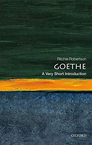 9780199689255: Goethe: A Very Short Introduction (Very Short Introductions)