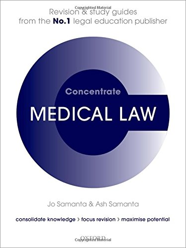 9780199689552: Medical Law Concentrate: Law Revision and Study Guide