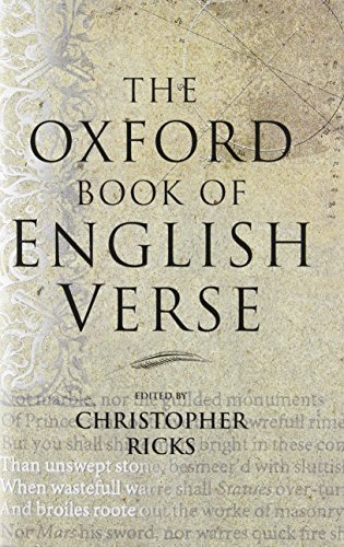 9780199691029: The Oxford Book of English Verse