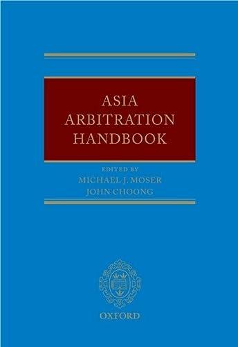 Asia Arbitration Handbook (Hardback)