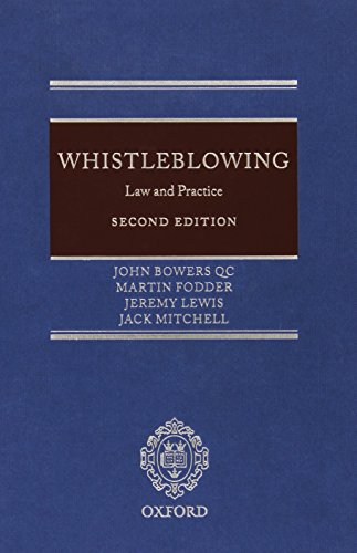 9780199692835: Whistleblowing: Law and Practice